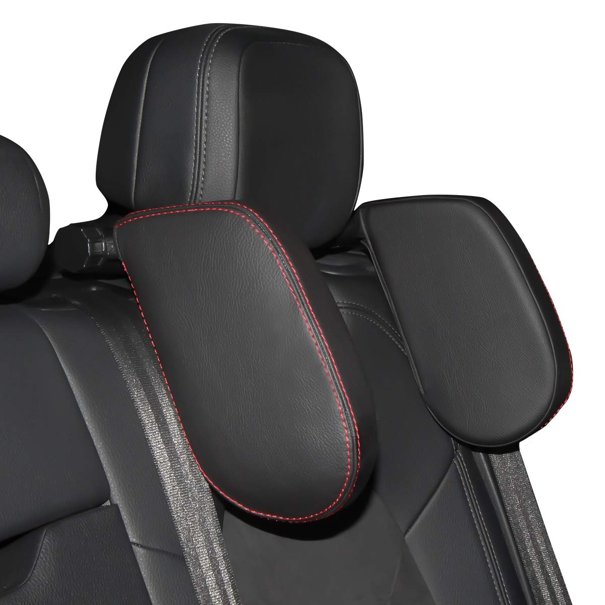 Aukee Car Seat Pillow Headrest Neck Support Travel Sleeping Cushion for Kids Adults Black by Aukee