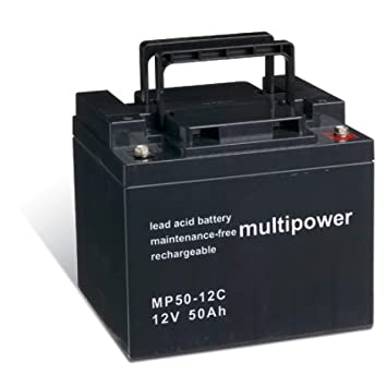Powery Batería Plomo-ácido (multipower) para Silla de Ruedas Eléctrica Meyra Ortopedia Ortocar 3/4 Classic cíclica