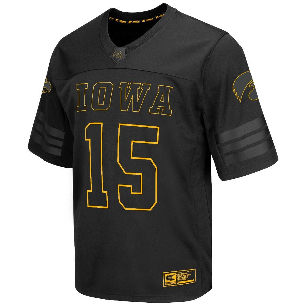Mens NCAA Iowa Hawkeyes Football Jersey (Black)