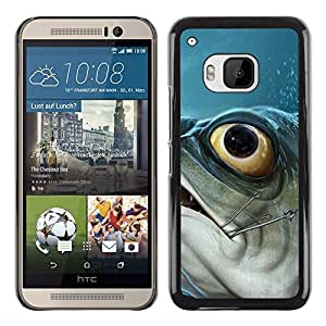 DEMAND-GO Smartphone Rígido Protección única Imagen Carcasa Funda Tapa Skin Cover Case Para HTC One M9 - piranha fish hook fishing fisherman boat