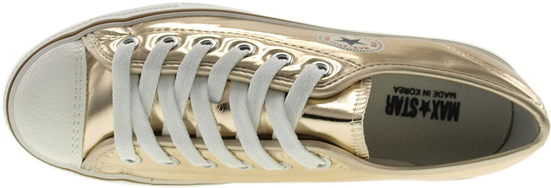 Amazon.com | Maxstar Womens CN9 6 Holes Double Platform TC Low Top Sneakers | Fashion Sneakers