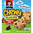 Quaker Chewy Granola Bars, 25% Less Sugar, Chocolate Chip, 8 Bars