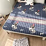GX&XD Comfortable and portable Tatami floor mat,Keep warm Folding mattress Floor lounger cover Floor mattress Yoga mat Creeping mats Carpet-D 180x200cm(71x79inch)