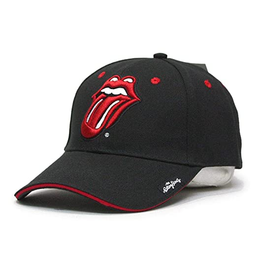 239d7c112bc2b8 Amazon.com: Rolling Stones The Official Rock and Roll Music Band Cotton  Adjustable Baseball Cap (Classic Tongue Black): Clothing