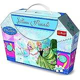 Trefl - Disney Princess Puzzle à Paillettes 100 Pièces - la Reine des Neiges, 7834