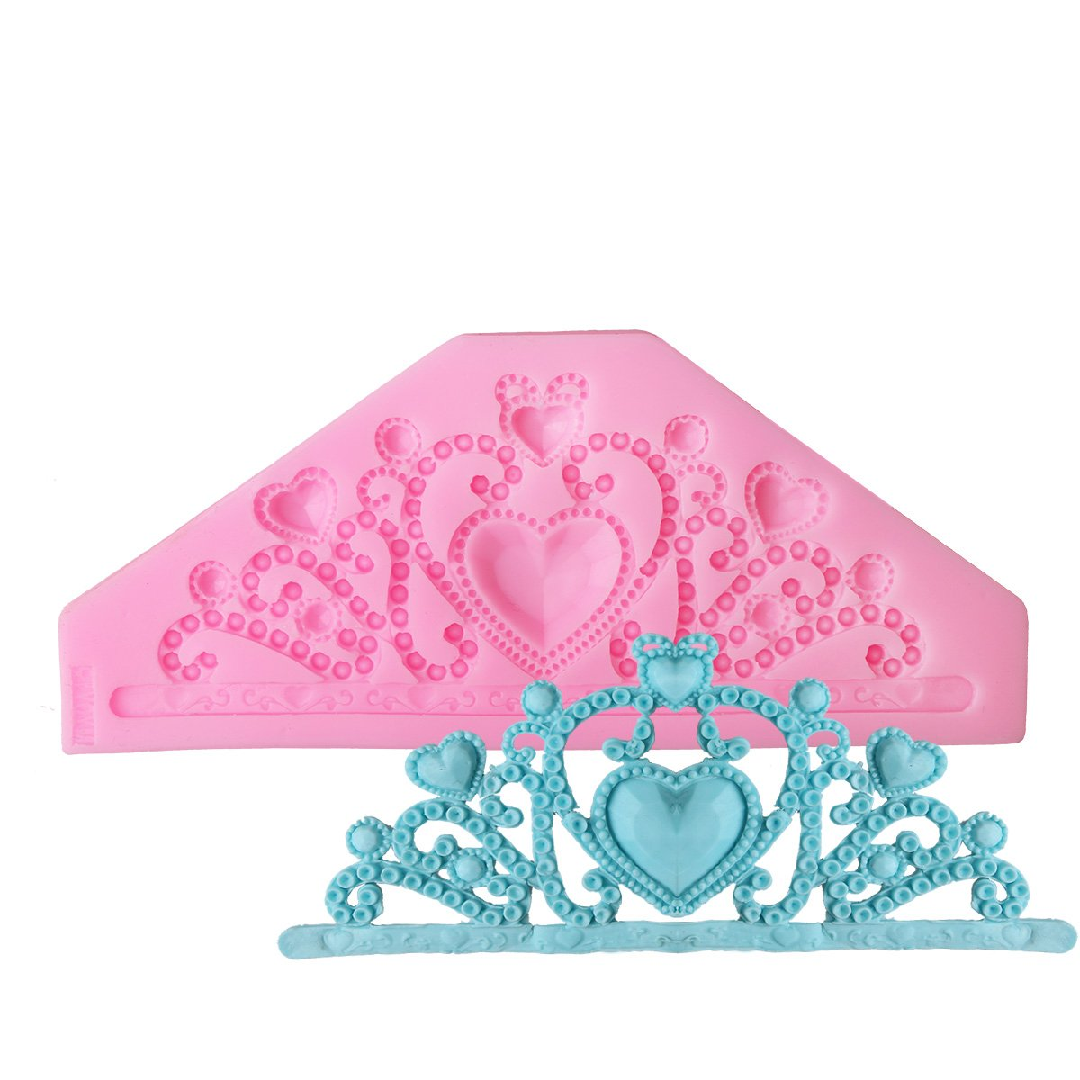 Deldige Big Gum Paste Moulds Queen Crown Cake Cookie Sweet Decorating Molds Pink Lady Girl Use Pink Delidge C1606