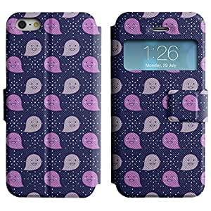 AADes Scratchproof PU Leather Flip Stand Case Apple iPhone 5 / 5S ( Happy Ghosts )