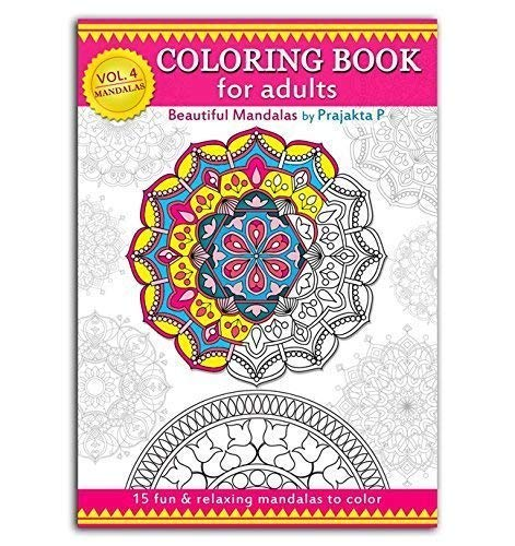 Relaxing Mandalas Adult Coloring Book: Volume 04, Spiral bound paperback, stress relieving patterns for all