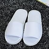 HG0006 Lot de 10 paires de chaussons jetables à bout ouvert en Blanc
