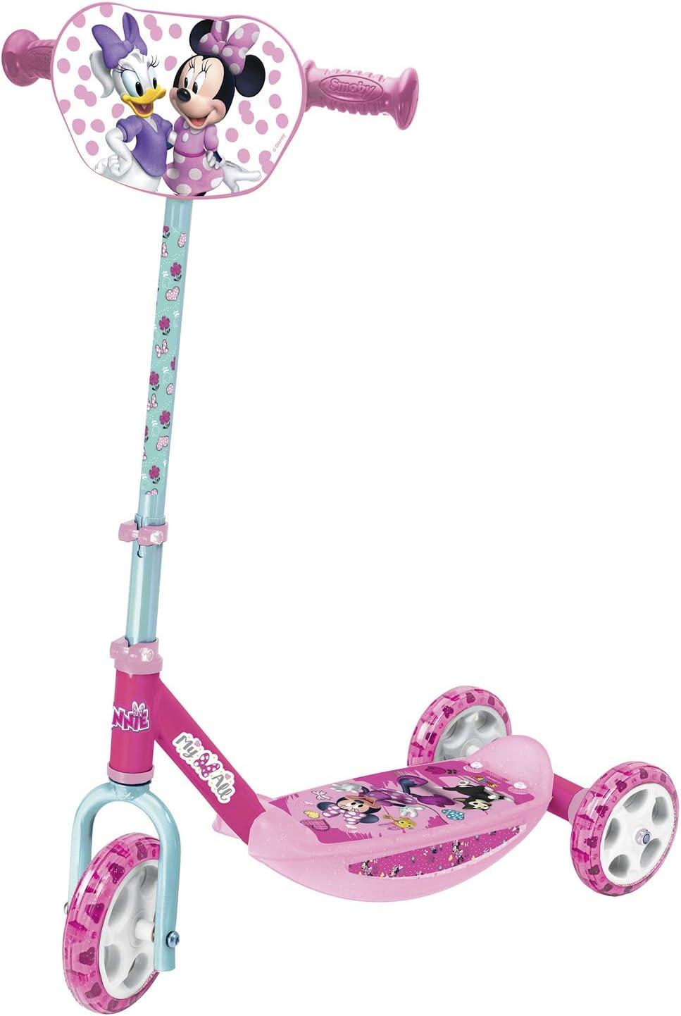 Smoby - Minnie Patinete 3 ruedas manillar de altura regulable, ligero y estable Disney (Smoby 750167)