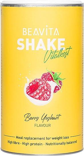 Batidos para adelgazar sabor Frambuesas & Yogur 572g – Sustitutivo de comida proteico – Batido saciante de apetito – Para perder peso y mantener ...