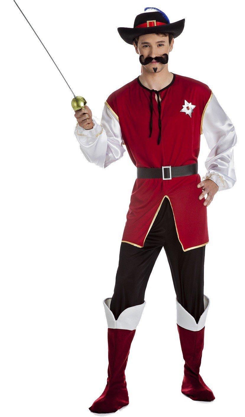 Disfraz Mosquetero Luxe Para Hombre Talla S: Amazon.es: Ropa y ...