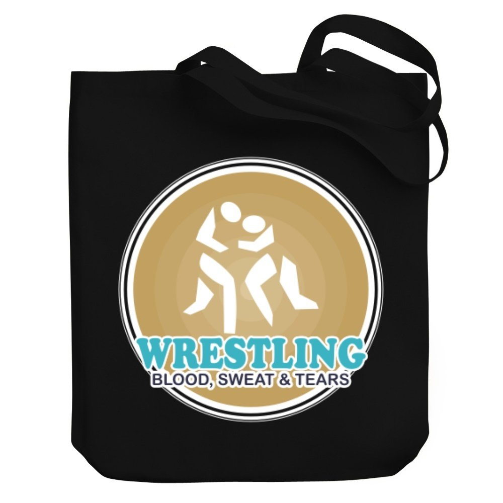Teeburon Wrestling Blood, sweat tears Canvas Tote Bag by Teeburon