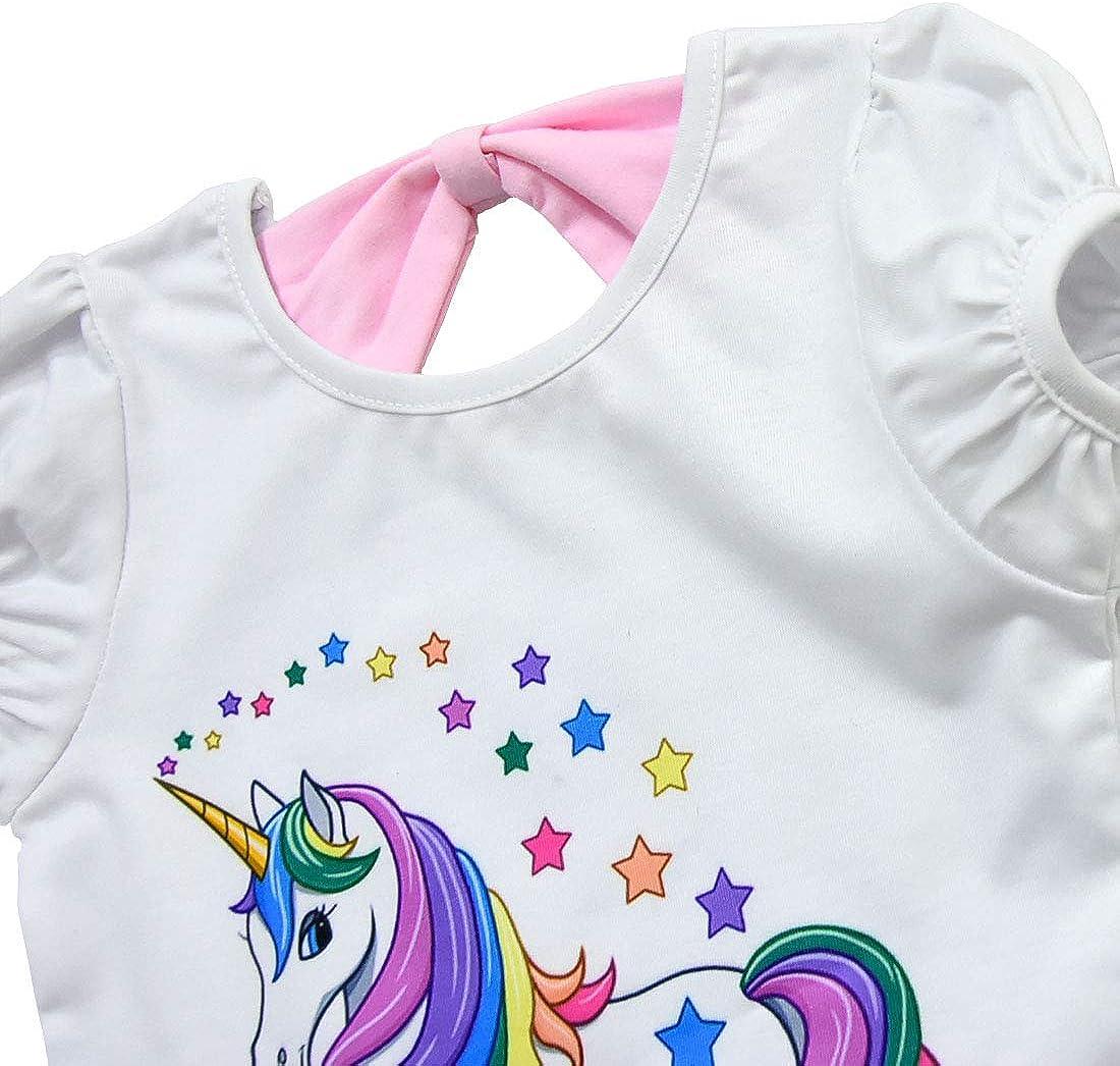 Dressy Daisy Girls Top Skirt 2 Pc Set Unicorn Costume Princess Fancy Dress Up Size 12M-8