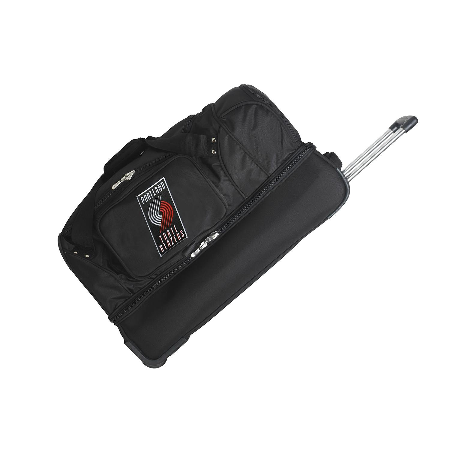 DENCO PORTLAND TRAIL BLAZERS 27'' 2-WHEELED DROP BOTTOM DUFFEL by Denco Sports Luggage