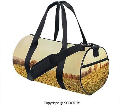 Womens Crossbody Bags Original Oil Painting Sunset Girls Cute Shoulder Bag