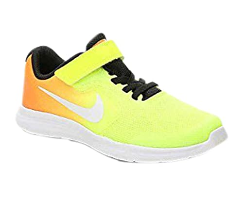 check out b1e21 79ff8 Nike Girls  Revolution 3 (GS) Running-Shoes, Tart White Volt Black, 5.5 M  US Big Kid  Buy Online at Low Prices in India - Amazon.in