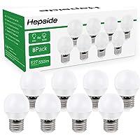 Hepside Bombilla LED E27,6W(equivalente a 50W) Bombillas Bajo Consumo, 550 LM…