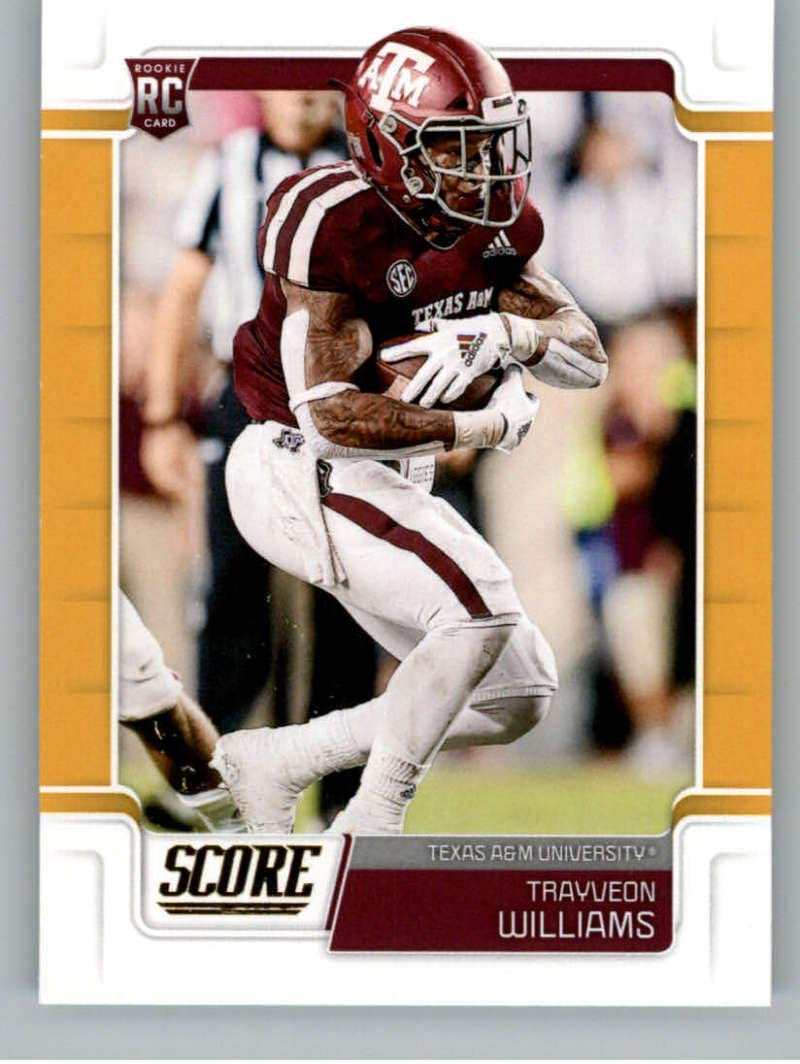 Amazon Com 2019 Score Gold Football 393 Trayveon Williams Texas A M Aggies Rookie Official Nfl Trading Card From Panini Collectibles Fine Art