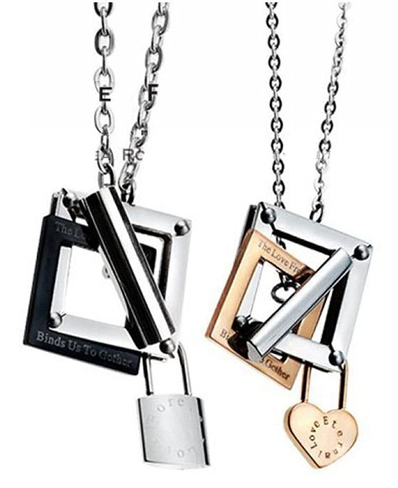 316L Stainless Steel Necklace Lovers Couple Necklaces AmaranTeen