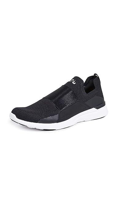 246e07cc9356 APL: Athletic Propulsion Labs Men's Techloom Bliss Running Sneakers, Black/ Black/White