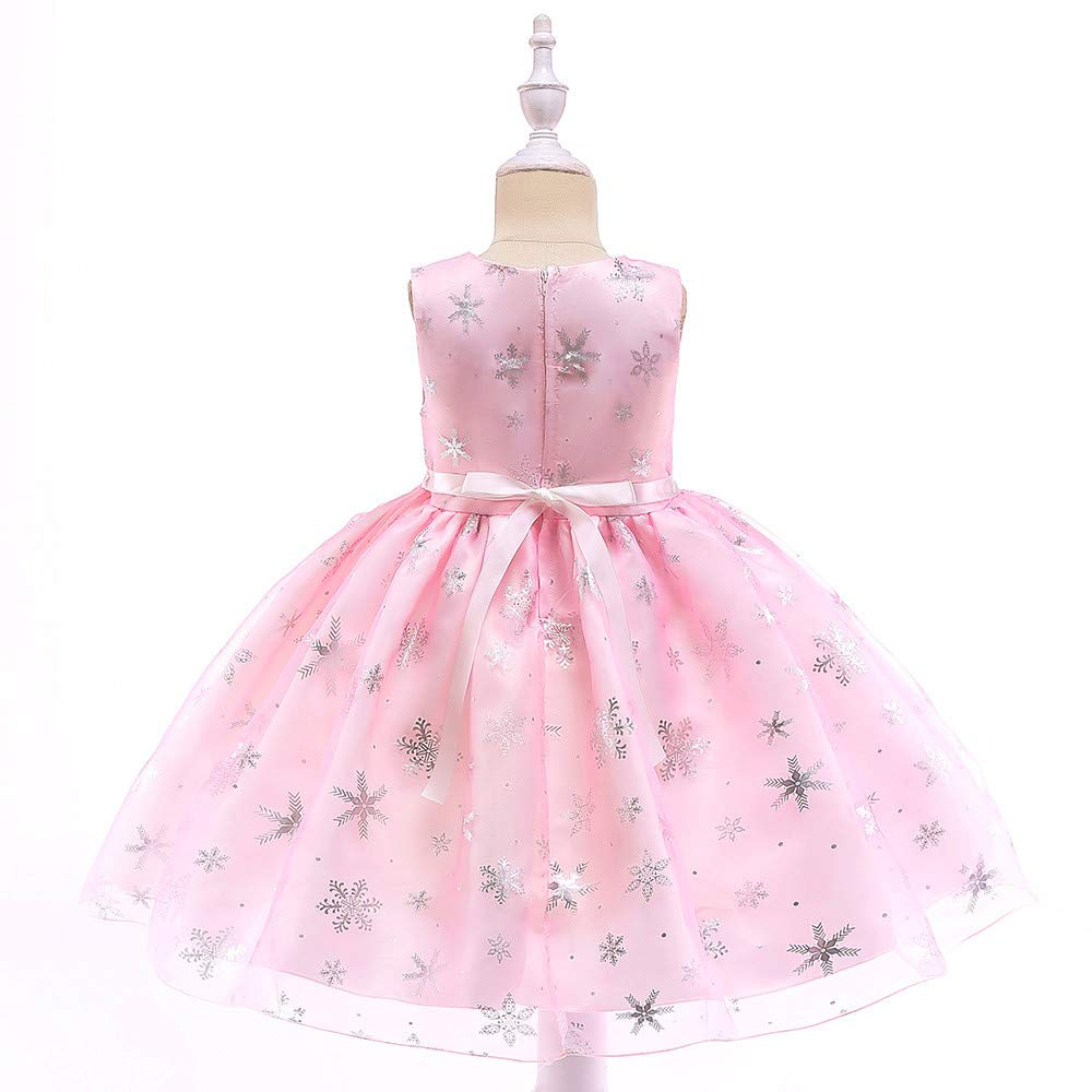KONFA Teen Toddler Baby Girls Xmas Snowflake Sleeveless Dress,Little Princess Christmas Day Party Skirt Clothing Set