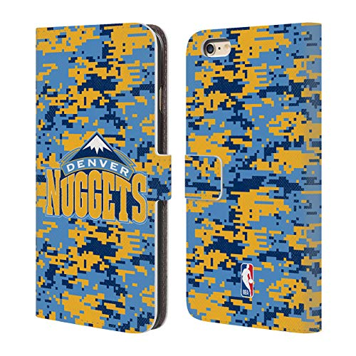 Official NBA Digital Camouflage Denver Nuggets Leather Book Wallet Case Cover For iPhone 6 Plus / iPhone 6s ()