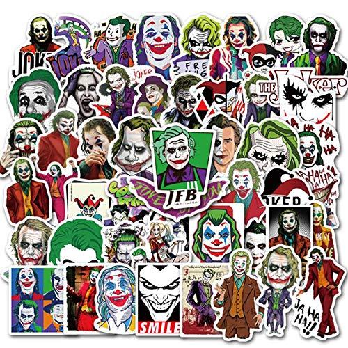 HAOHAN Joker Autocollants Mixtes pour Skateboard R/éfrig/érateur T/él/éphone Guitare Moto Bagages PVC /Étanche Blague Jouet Autocollants 50 Pcs