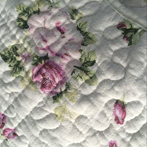 Ustide Rustic Rose Flowers Area Carpet Home Decor Cotton