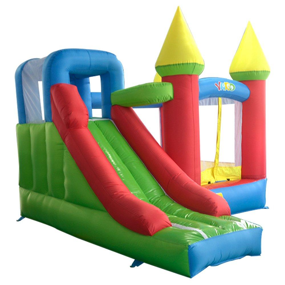 YARD Home Use Hüpfburg mit Rutsche für Kinder Fun Park Outdoor-Spiele mit Gebläse