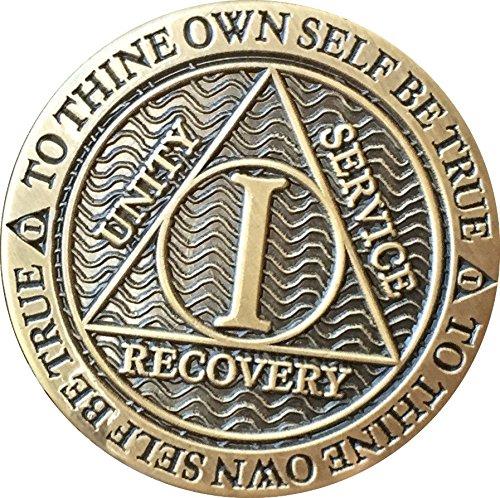 1 Year AA Medallion Reflex Antique Chocolate Bronze Chip -