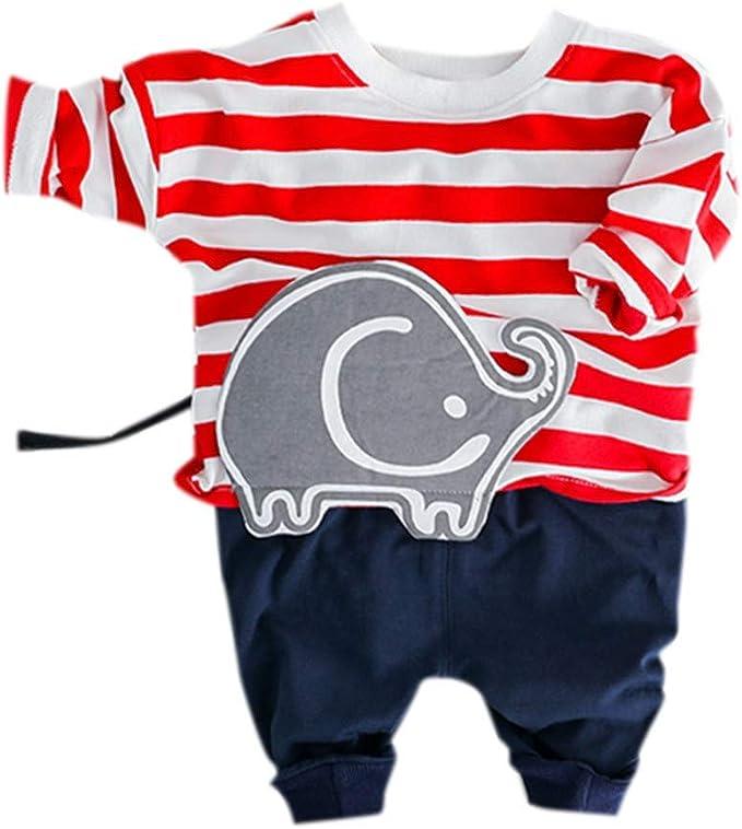 Ropa NiñOs NiñA Bebé Manga Larga Estampado de Elefante de Dibujos ...