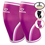 Womens-Athletics-Weightlifting-Non-Slip-Compression-Knee-Sleeves-1-Pair-Great-Support-Effective-Relief-from-Muscle-Pain-Fatigue