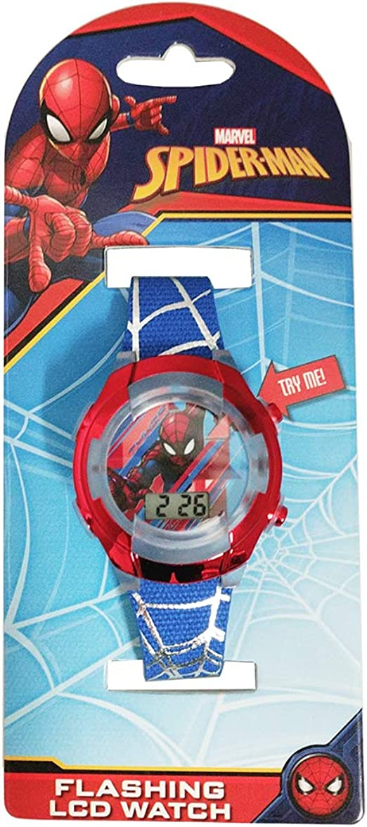 Spiderman Kids Digital LED Watch with Lightup Time SPM3252
