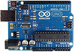 Arduino Uno R3 Compatible Electronic ATmega328P Microcontroller Card by RoboGets for Robotics and DIY Projects (USB Cable Included)