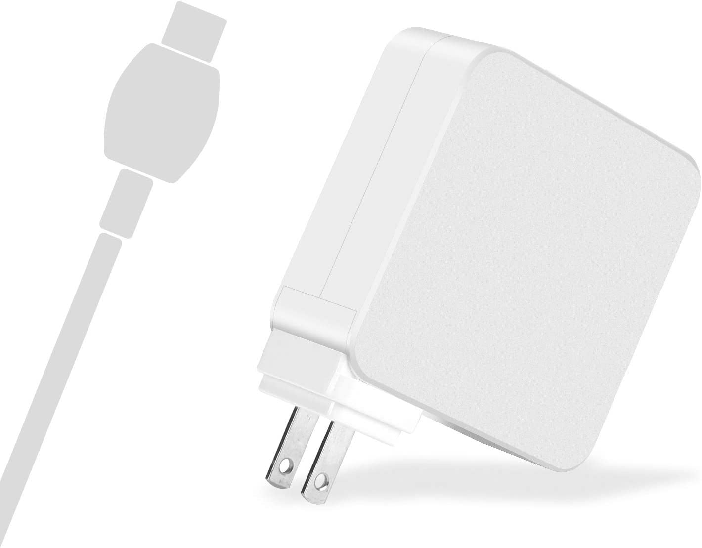 Mac Book Air 61W USB-C to USB-C Ac Power Adapter Supply Charger Compatible Replacement for Pro 12 Inch 13 Inch, Air 2018, USB-C Cable Included