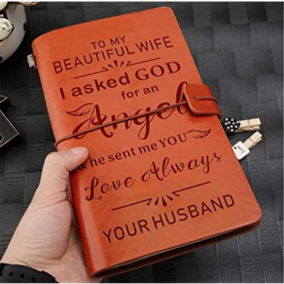 Vintage Journal Husband to My Wife I Asked god for an Angel and he Sent me You Love Always: Toys & Games