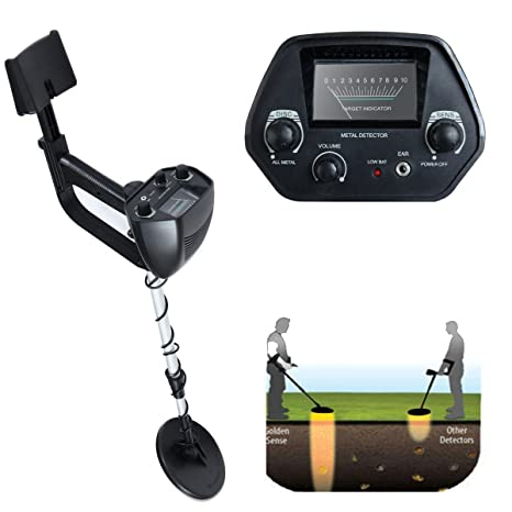Amazon.com : LAZYMOON MD-4030 Metal Detector Deep Hunter Sensitive Search LCD Black : Garden & Outdoor