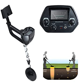 LAZYMOON MD-4030 Metal Detector Deep Hunter Sensitive Search LCD Black