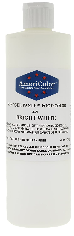 Amazon.com: Food Coloring AmeriColor - Bright White Soft Gel Paste ...