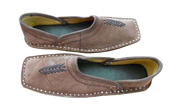 kalra Creations Hombre tradicional indio piel Mocasines Zapatos, color Marrón, talla 44.5 EU: Amazon.es: Zapatos y complementos