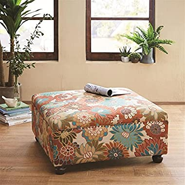 Madison Park Carlyle Cocktail Ottoman - Multi - 36W x 36D x 18H
