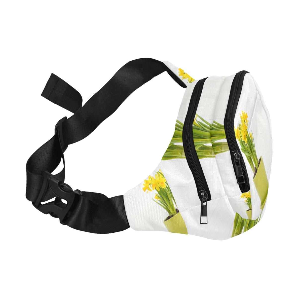 Colorful Flowers In A Ceramic Flowerpot Fenny Packs Waist Bags Adjustable Belt Waterproof Nylon Travel Running Sport Vacation Party For Men Women Boys Girls Kids