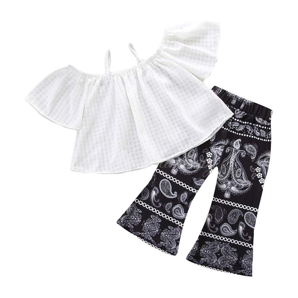 9cb58dfdb52f Amazon.com  Baulody Newborn Kid Baby Girls Off Shoulder Solid Tops ...