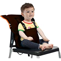 Baby Portable Highchair Travel Seats Cover Toddler Safety High Chair Infant Sack Belt Cushion Bag Washable for Kid Secure with Adjustable Straps