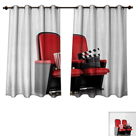 Groovy Amazon Com Anzhouqux Movie Theater Blackout Curtains Panels Bralicious Painted Fabric Chair Ideas Braliciousco