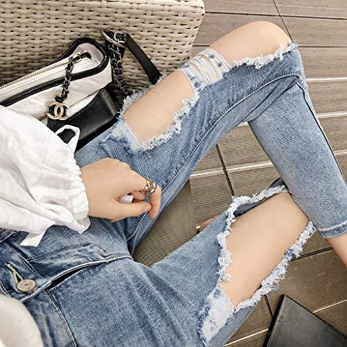 Rxf Blu Alla Slim Da Sottile Jeans Donna Estate Sottile Moda aRZPFqawx