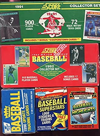 1992 1991 Score Baseball Card Complete Box Set Collection