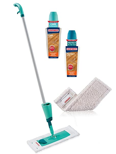 Leifheit Wood Floor Care And Protect Starter Set For Oiledwaxed
