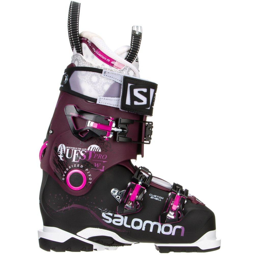 det billigste rabat online her Amazon.com : Salomon Quest Pro 100 Ski Boots Black ...